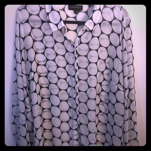 Lane Bryant sheer dress blouse